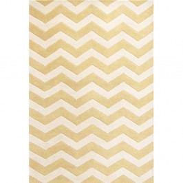 Vlněný koberec Crosby Yellow, 152x243 cm