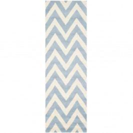 Světle modrý vlněný koberec Safavieh Stella, 76x243cm