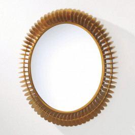 Nástěnné zrcadlo z kovu zlaté barvy Thai Natura Fierce, Ø 79 cm