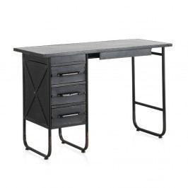 Černý kovový pracovní stůl Geese Gerome