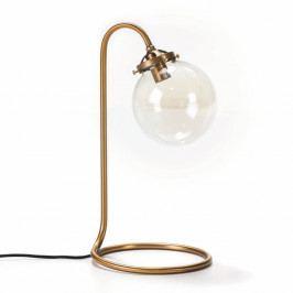 Stolní lampa z kovu zlaté barvy Thai Natura Snake