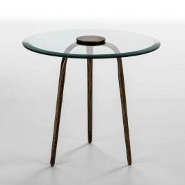 Odkládací stolek ze skla a železa Thai Natura Xenia, Ø 59 cm
