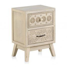 Dřevěný noční stolek s 2 zásuvkami Geese Lorelai