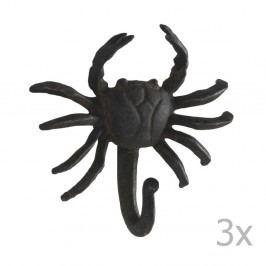 Sada 3 nástěnných kovových věšáků Geese Crab