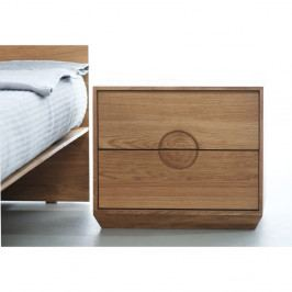 Noční stolek z olejovaného dubového dřeva Mazzivo Borgo2.0