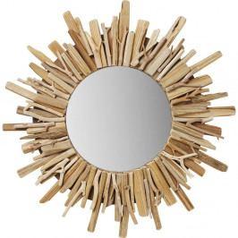 Kulaté nástěnné zrcadlo Kare Design Legno, Ø58cm