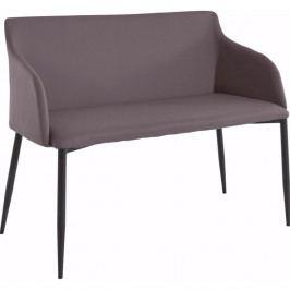 Hnědá lavička s černými nohami Støraa Nimbus