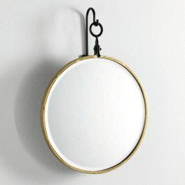 Nástěnné zrcadlo se zlatým rámem Thai Natura, ∅45cm