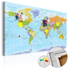 Nástěnka s mapou světa Bimago Orbis Terrarum, 90x60cm