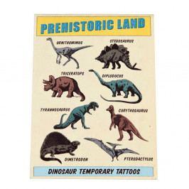 Sada 2 listů s dočasným tetováním Rex London Prehistoric Land