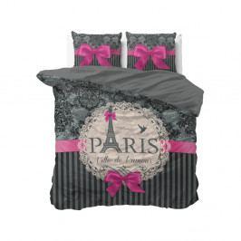 Bavlněné povlečení na dvoulůžko Sleeptime Love Paris, 200 x 220 cm