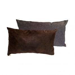Sada 2 polštářů s výplní Karup Deco Cushion Mocca/Granite Grey,45 x 25 cm