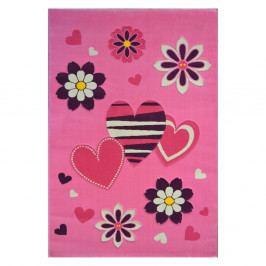 Růžový koberec Princess , 120x180cm