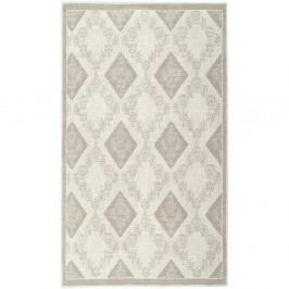 Krémový bavlněný koberec Floorist Fara, 150x80cm