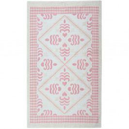 Pudrový bavlněný koberec Floorist Flair, 120x180cm