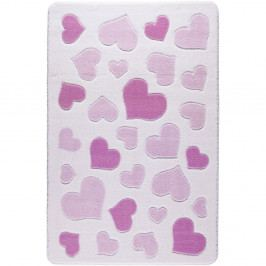 Dětský růžový koberec Confetti Sweet Love,133x190cm