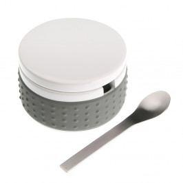 Set šedé dózy na cukr se lžičkou Versa Spoon