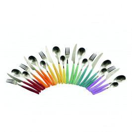 24dílná sada barevných příborů Villa d'Este Cascina