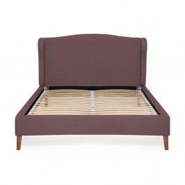 Fialová postel Vivonita Windsor Linen, 200x180cm