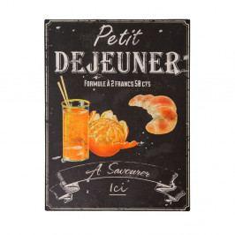 Plechová cedule Antic Line Petit Déjeuner, 25x33cm
