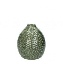 Šedá keramická váza HF Living, výška 18,5 cm