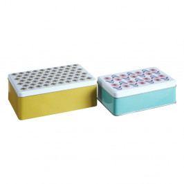 Sada 2 cínových úložných boxů Premier Housewares Joni, 13 x 20 cm