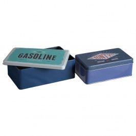 Sada 2 cínových úložných boxů Premier Housewares Hot Rod, 13 x 20 cm