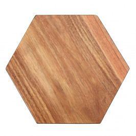 Krájecí prkénko z akáciového dřeva Premier Housewares Hexagon, 30 x 35 cm