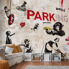 Velkoformátová tapeta Artgeist Graffiti Collage, 300x210cm