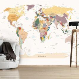 Velkoformátová tapeta Artgeist World Map, 400x280cm