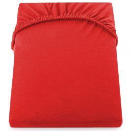 Červené elastické prostěradlo z mikrovlákna DecoKing Amber Collection, 80-90 x 200 cm