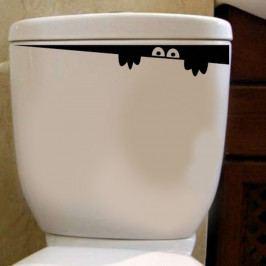 Vinylová samolepka na toaletu Hiding, 30 x 8 cm