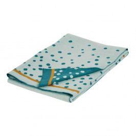 Modrá deka Done by Deer Happy Dots, 80x100cm