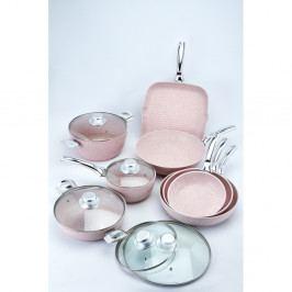 13dílný set nádobí s poklicemi Bisetti Stonerose