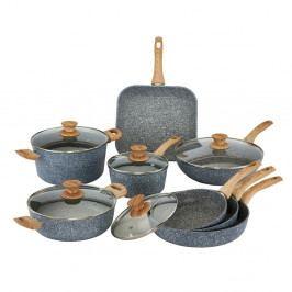 8dílný set nádobí s poklicemi a úchyty s imitací dřeva Bisetti Pierre Gourmet Cristina