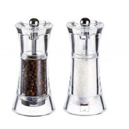 Sada 2 mlýnků na sůl a pepř Bisetti, výška 13 cm
