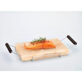 Servírovací podnos ze solné desky Bisetti Salt Plate, 22x45 cm