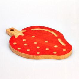 Bukové krájecí prkénko Bisetti Strawberry, 23 x 32 cm