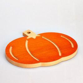 Bukové krájecí prkénko Bisetti Pumpkin, 31,5 x 27,5 cm