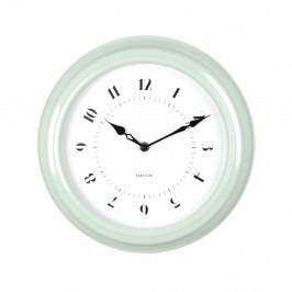 Zelené nástěnné hodiny Karlsson Fifties, průměr 30cm