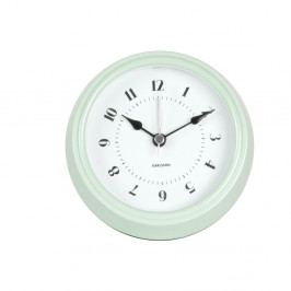 Zelené nástěnné hodiny Karlsson Fifties, průměr 11,5cm