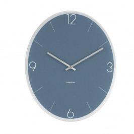 Modré nástěnné hodiny Karlsson Elliptical