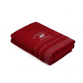 Sada 2 červených ručníků Polo Club, 70x140cm
