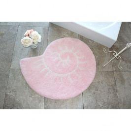 Růžová koupelnová předložka v podobě ulity Celine