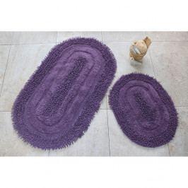 Sada 2 fialových koupelnových předložek Jane