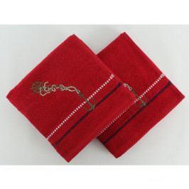 Sada 2 ručníků Marina Red Cipa, 50x90 cm