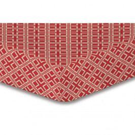Prostěradlo z mikrovlákna DecoKing Hypnosis Triangles Dalia, 180x200cm