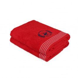 Sada dvou ručníků s bílým detailem Beverly Hills Polo Club Horses, 90x50cm