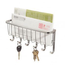 Nástěnný věšák na klíče s přihrádkou na dopisy InterDesign York Lyra, délka 27,5cm