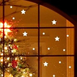 Elektrostatická vánoční samolepka Ambiance Bright White Stars